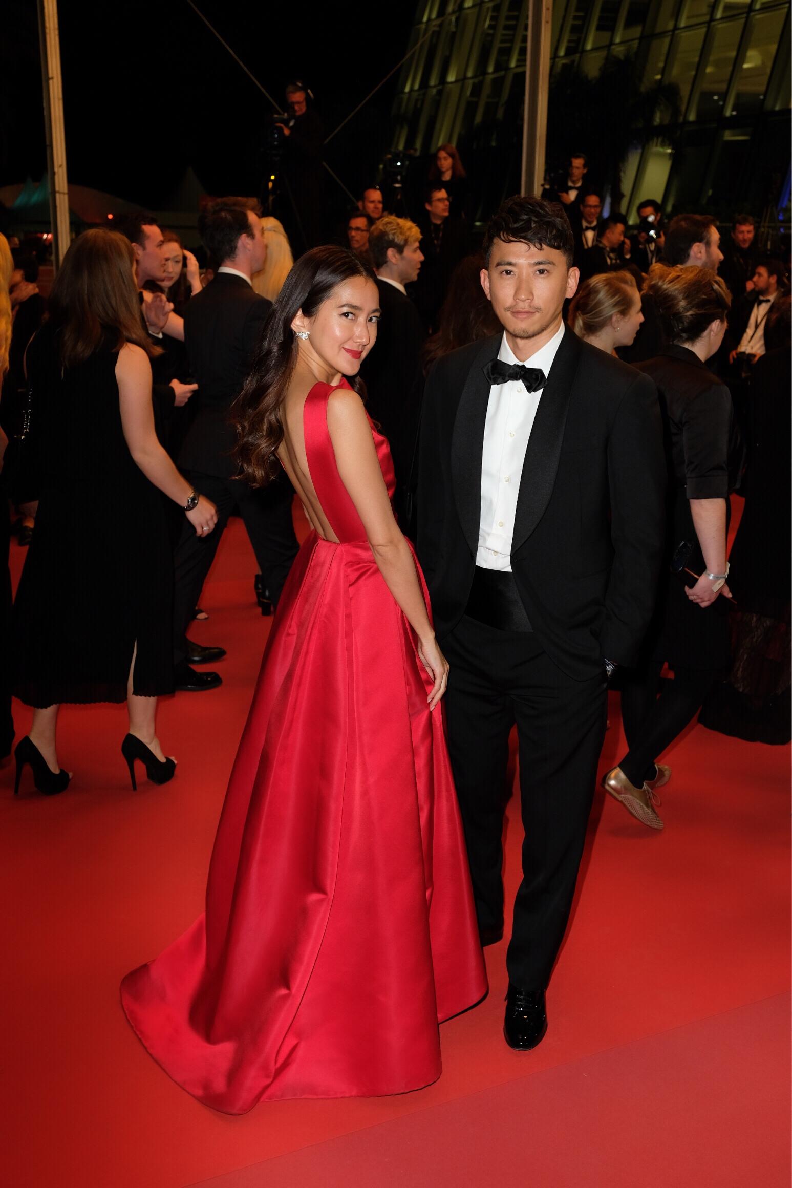 Love by Natsuさんがカンヌ国際映画祭で着たKatie Ermilio(ケイティ・エミリオ)の赤のドレス