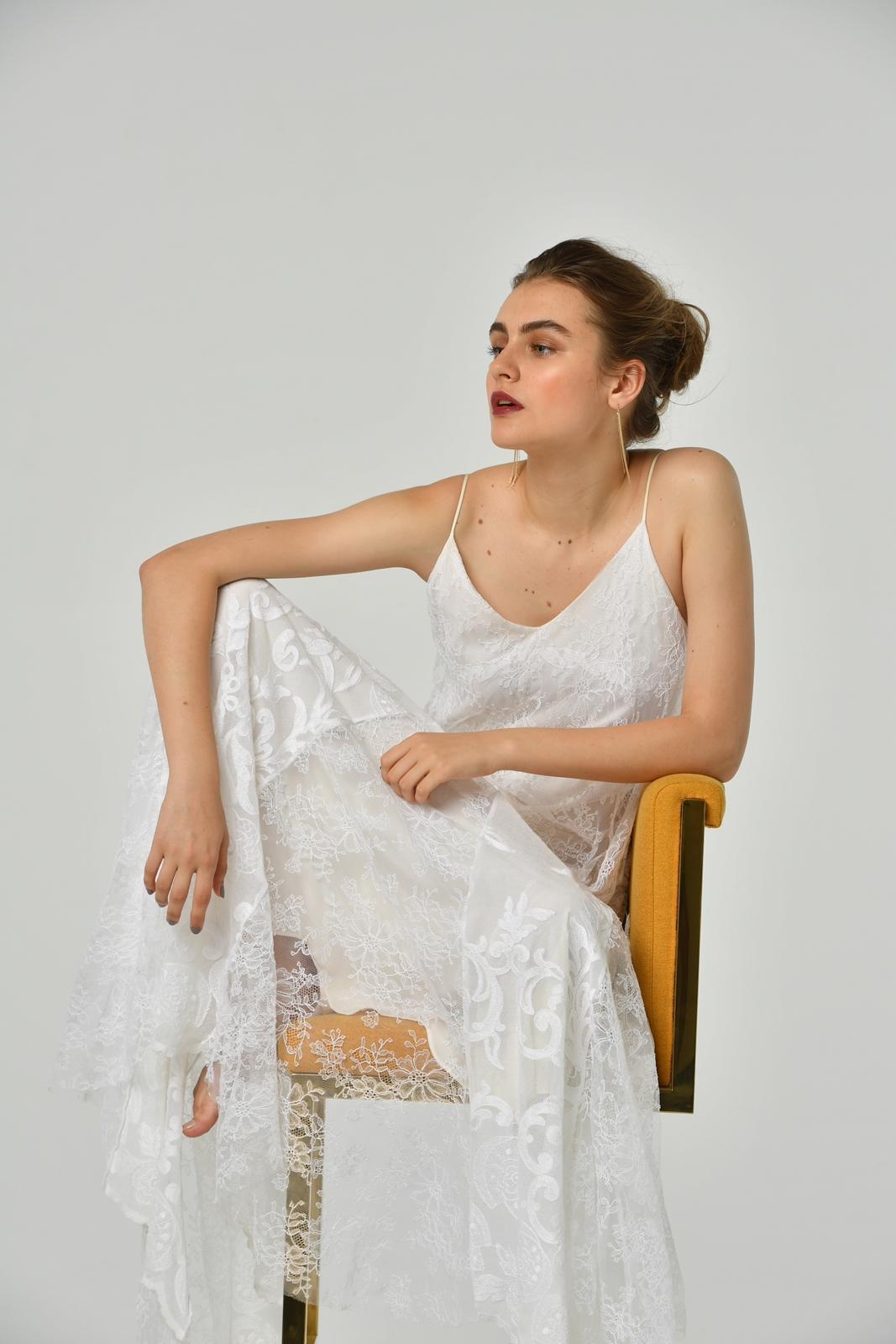 ホートンブライド(Hoghton Bride)のウェディングドレスはおしゃれな花嫁様に人気。Mauzacという名前のBoho WeedingやBeach weddingやガーデンウェディングなどにぴったりの1着。