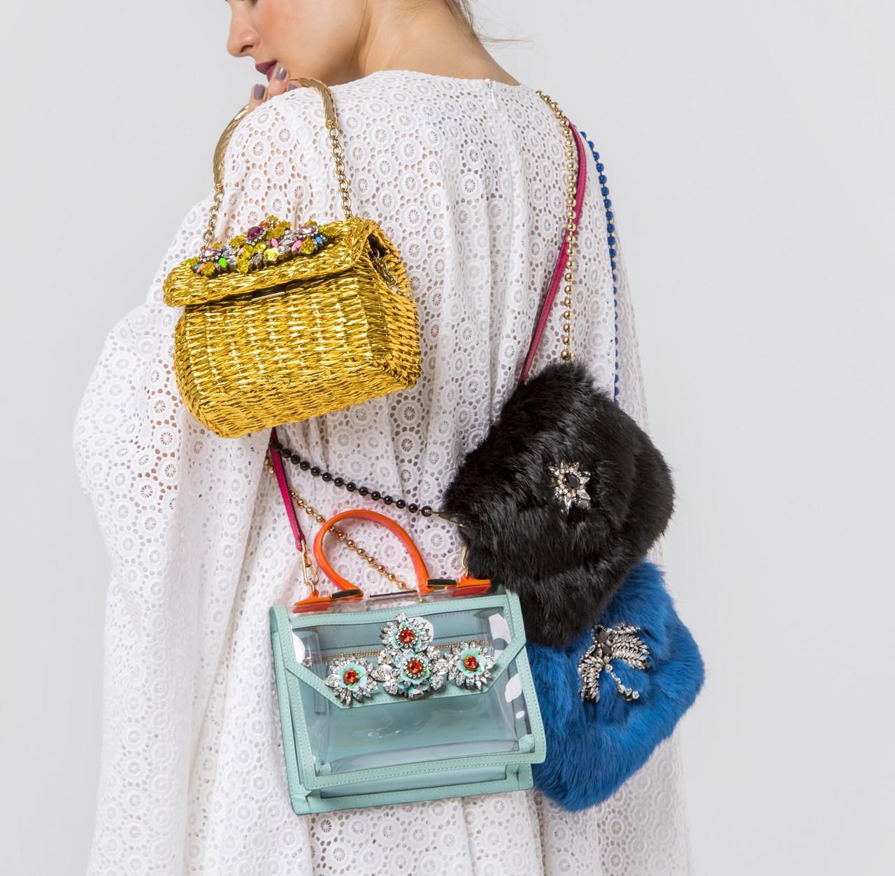 ファーのバッグやゴールドのかごバッグはShourouk(シュルーク)のおしゃれなレンタバッグ