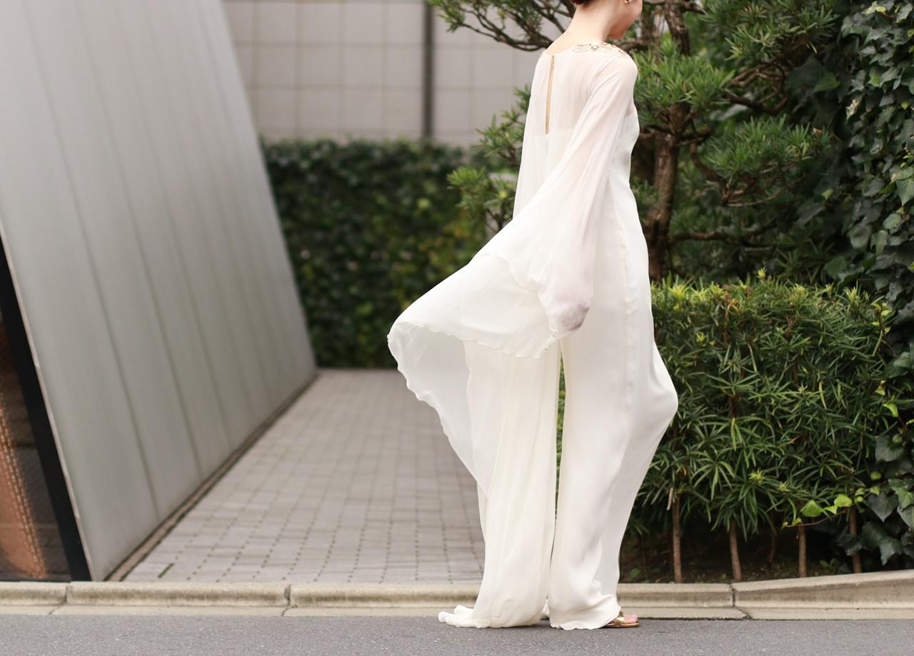 レンタルのMarchesa(マルケーザ)の長袖のスレンダードレス