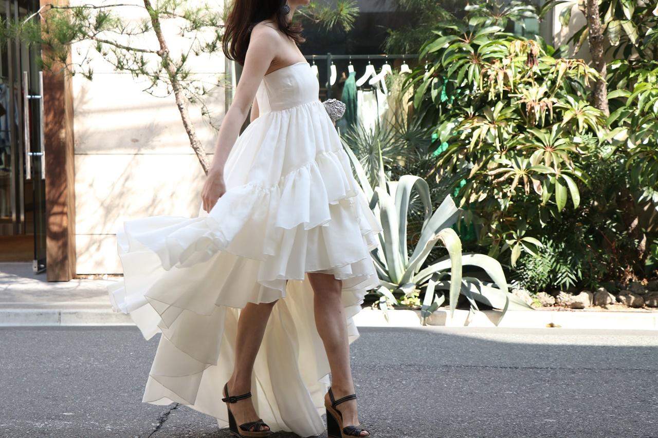 ベアのティアードフリルのHOUGHTON(ホートン)のレンタル ウェディングドレス