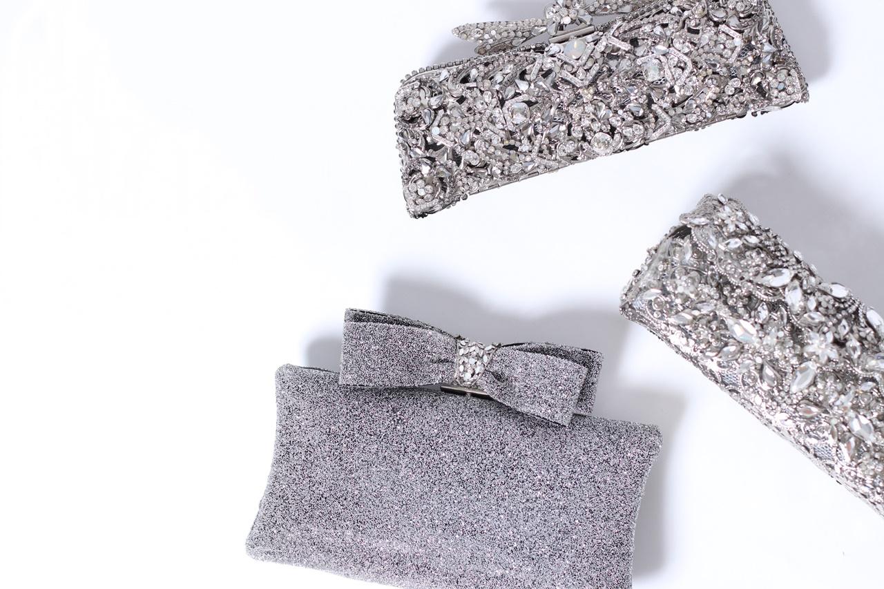 ビジューのクラッチバッグやグリッターのクラッチバッグはマリア エレナ(Maria Elena)のレンタルバッグ