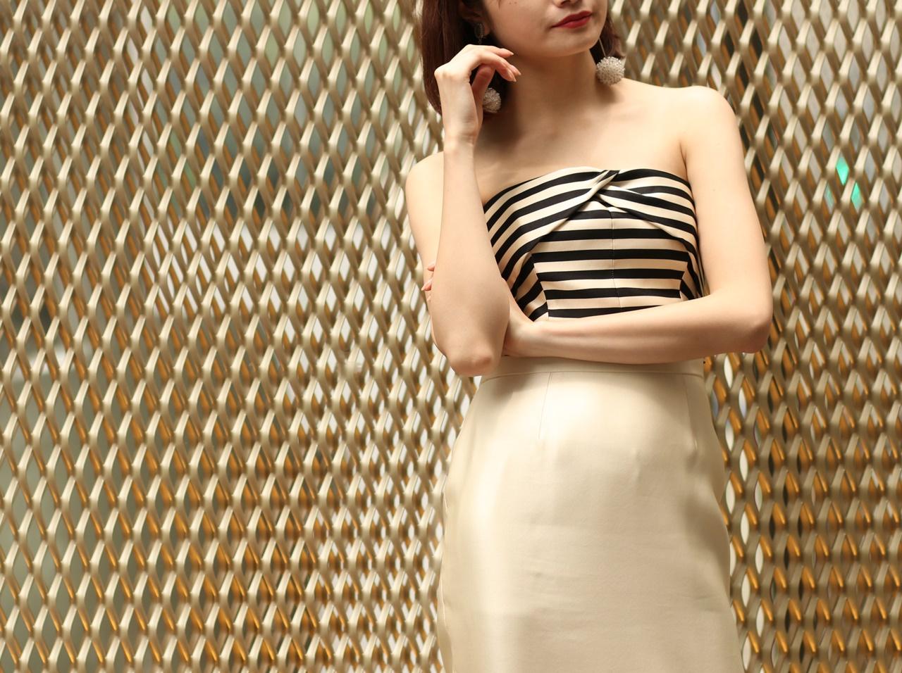 ドレスのサブスクにおすすめのKatie Ermilio(ケイティ・エミリオ)のベアのシルクのロングドレス